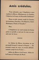 Tract Guerre 39 45 Vichyste Anti Britannique Colonies Françaises Occupées Par Anglais Madagascar Soudan Nvelle Calédonie - Storia Postale