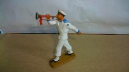 Figurines Soldat Marin Plastique Marque Starlux Joueur De Clairon 6 Cm De Haut - Army