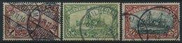 DEUTSCH-OSTAFRIKA 19-21a O, 1901, 1 - 3 R. Kaiseryacht, 3 Werte Feinst/Pracht, Mi. 390.- - Kolonie: Deutsch-Ostafrika