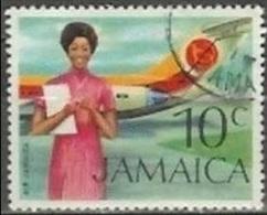 1972 10 Cent Airline, Used - Jamaique (1962-...)