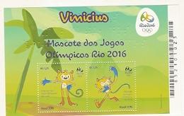 Brasil ** & Olympic Games Mascot, Rio Janeiro 2016 (6446) - Blocks & Sheetlets