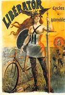 PUBLICITE B 16  NOS ELEGANTES BICYCLETTES LIBERATOR Seins Nus Nu   VELO BICYCLETTE Cycle EDITION NUGERON * PRIX FIXE - Advertising