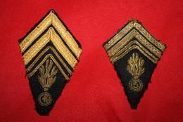 Très Anciennes Pattes De Col Gendarmerie En Canetille - Police & Gendarmerie