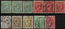 1895 Grand-Duc Adophe Profil: Lot De 11 Timbres   Oblitérés (2scans) - 1895 Adolphe Right-hand Side