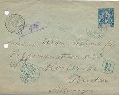 Entier Postal Recommandé Saint Paul Reunion Pour Karlsruhe - Réunion (1852-1975)