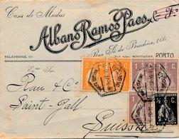 Lettre Albano Ramos Porto Pour Saint Gall - 1910-... République