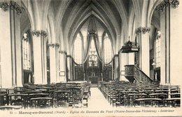 CPA - MARCQ-en-BAROEUL (59) - Aspect De L'intérieur De L'Eglise Du Hameau Du Pont Au Début Du Siècle - Marcq En Baroeul