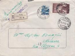 BUSTA VIAGGIATA RACCOMANDATA - UNIONE ESERCIZI ELETTRICI - ROMA - 1946-60: Storia Postale