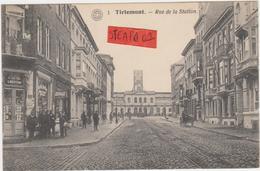 Tienen, Thienen, Tirlemont, Stationsstraat, Legendarische Librairie Sacré, Koets, Tramspoor, PRACHTKAART! - Tienen