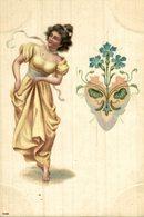 PUBLICIDAD PUBLI  HOTEL RESTAURANT CH BONG Allegories Des Fleurs    Art Nouveau  Illustrateur - Ilustradores & Fotógrafos
