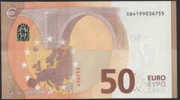 """50 EURO ITALIA  SB  S017  Ch. """"19""""  - DRAGHI   UNC - EURO"""
