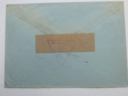 1953 , Seltene Zensur Rs. Auf Brief Nach Hannover - 1945-1992 Socialist Federal Republic Of Yugoslavia