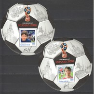F258 PRIVATE ISSUE 2016 BURUNDI SPORT FOOTBALL PROTASOV SALENKO 2BL MNH - Coupe Du Monde
