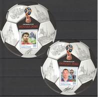 F259 PRIVATE ISSUE 2016 BURUNDI SPORT FOOTBALL IGNACHEVITCH MALOFEEV 2BL MNH - Coupe Du Monde