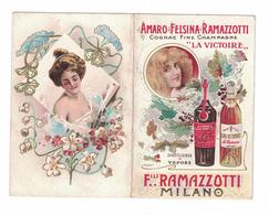 CALENDARIETTO 1904  SEMESTRINO  AMARO FELSINA RAMAZZOTTI MILANO - Calendari