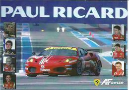 Carte TEAM AF CORSE ( FERRARI F430 GTC ) - Endurance 8 HEURES DU CASTELLET 2010 - Voitures (Courses)