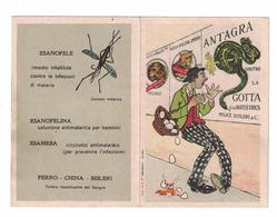 CALENDARIETTO 1910  SEMESTRINO  FERRO CHINA BISLERI - Calendari