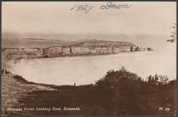 Straight Point, Looking East, Exmouth, Devon, 1929 - RP Postcard - England
