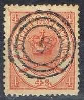 Sello DANMARK (Dinamarca), Rings Numeral 5, Yvert Num 13 º - Usado