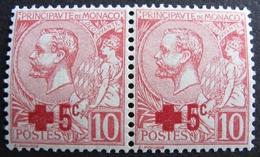 FD/2482 - 1914 - MONACO - CROIX ROUGE - (PAIRE) N°26 TIMBRES NEUFS* - Monaco
