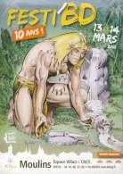 CHERET : Affichette Salon MOULINS 2010 - Livres, BD, Revues