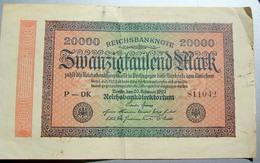 REICHSBANKNOTE, BILLET ALLEMAND 1923 - 20000 Mark