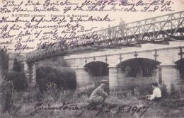 Moustier S/Sambre Passerelle De Mornimont Circulée En 1917 - Jemeppe-sur-Sambre