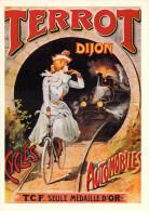 PUB Publicité NUGERON  B 1 Nos Elégantes Bicyclettes  TERROT DIJON  Cycles Automobiles  (vélo Cycle Bicyclette Bicycle) - Advertising