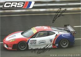 Carte CRS RACING ( FERRARI F430 GTC ) Dédicacée Par Les Pilotes - Endurance 1000 KM De SPA 2010 - Autographes