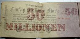 Billet Allemand De 50 Millionen Mark De 1923 - [ 3] 1918-1933: Weimarrepubliek