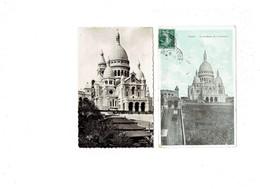 Lot 2 Cpa - 75 - PARIS - Funiculaire De Montmartre Sacré Coeur - Travaux échafaudage - Publicité LIEBIG Savon LUX - Sacré Coeur
