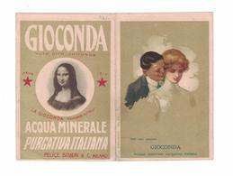 CALENDARIETTO 1913  SEMESTRINO  FELICE BISLERI  GIOCONDA ACQUA MINERALE PURGATIVA ITALIANA - Calendari