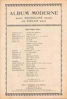 PARTITION ALBUM MODERNE POUR MANDOLINE SEULE OU VIOLON SEUL - Partitions Musicales Anciennes
