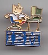 Pin's IBM  Ordinateur Mascotte Cobi Réf 4657 - Informatique