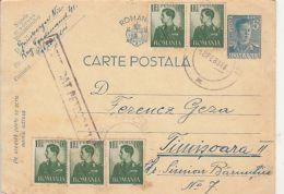 KING MICHAEL OF ROMANIA STAMPS, CENSORED PETROSANI NR 1, WW2, PC STATIONERY, ENTIER POSTAL, 1943, ROMANIA - 1918-1948 Ferdinand I., Charles II & Michel