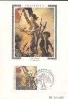HISTORY, FRENCH REVOLUTION, LA LIBERTE PAINTING, CM, MAXICARD, CARTES MAXIMUM, OBLIT FDC, 1999, FRANCE - Révolution Française