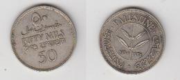 PALESTINE - 50 MILS 1934 (RARE) ARGENT - Monnaies