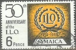 1969 3sh ILO Labor, Used - Jamaica (1962-...)