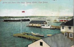 CANADA CAPE BRETON SYDNEY HARBOR BATEAUX DE GUERRE FRANCAIS ET ANGLAIS - Cape Breton