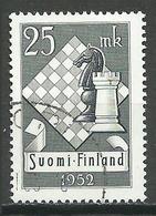 Finlande YT N°395 Tournoi D'échecs à Helsinki Chess Oblitéré ° - Finnland
