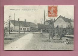 CPA - Vendeuil  -(Aisne) - Place Et Jardin De La Gare - Francia