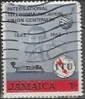 1965 1sh ITU, Used - Jamaique (1962-...)