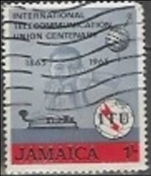 1965 1sh ITU, Used - Jamaica (1962-...)