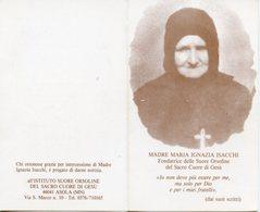 Santino Depliant MADRE MARIA IGNAZIA ISACCHI - PERFETTO P73 - Religione & Esoterismo