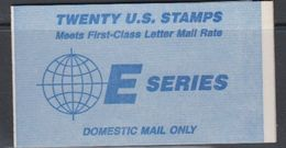 USA 1988 Earth / Domestic Complete Booklet 20 Stamps (closed) ** Mnh (40746E) - Boekjes
