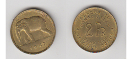 CONGO BELGE - 2 FRS 1947 (FR/NL) - Congo (Belge) & Ruanda-Urundi