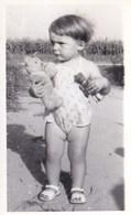 Child W Teddy Bear Vintage Real Photo - Jeux Et Jouets