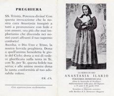 Santino Depliant SERVA DI DIO ANASTASIA ILARIO Terziaria Domenicana - PERFETTO P73 - Religione & Esoterismo