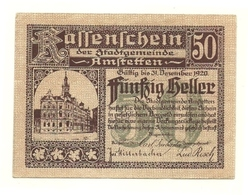1920 - Austria - Anstetten Notgeld N70, - Austria