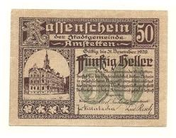 1920 - Austria - Amstetten Notgeld N70, - Austria
